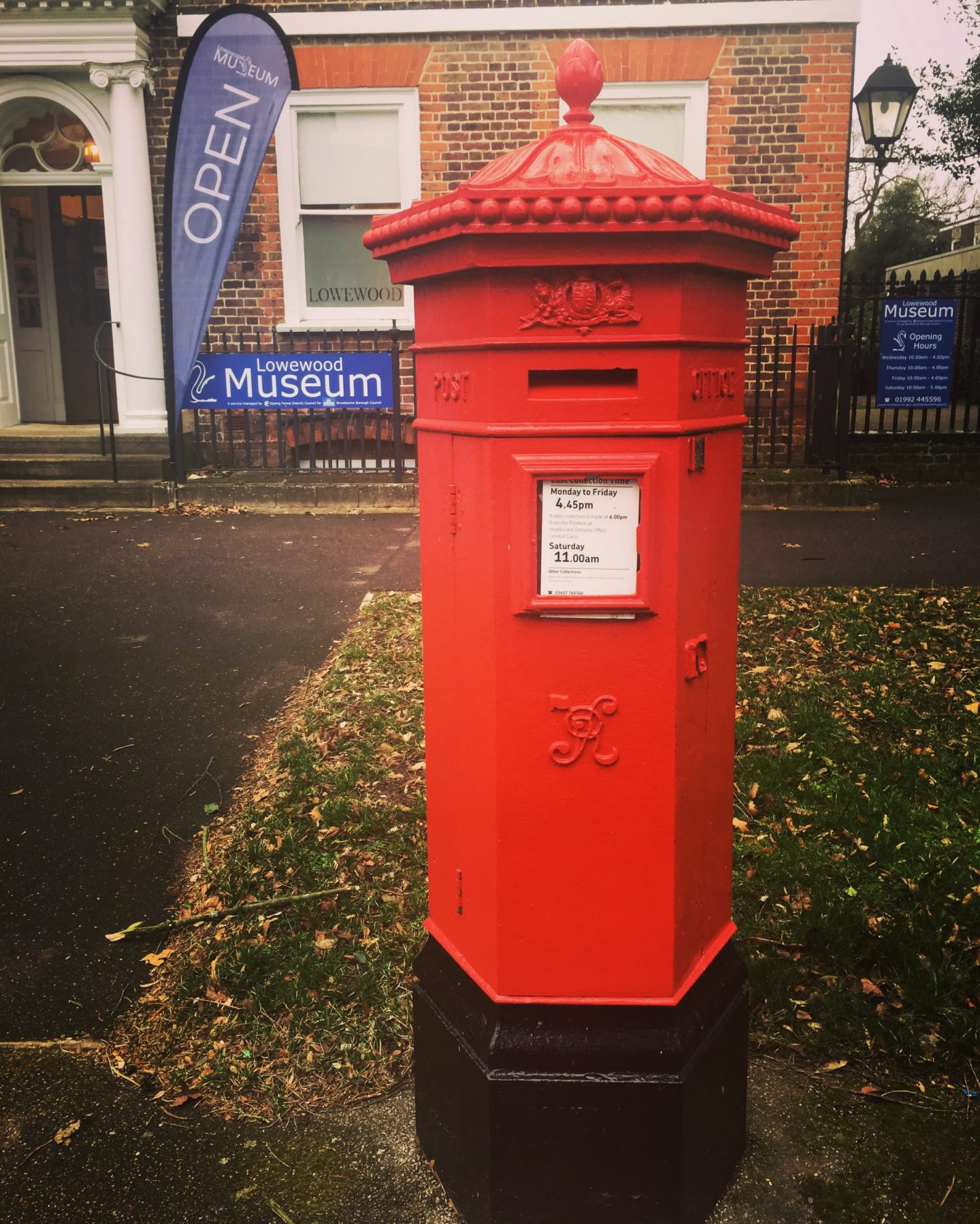 My favourite style of postbox is the 'Penfold'. Named after its designer, this lovely specimen can be found outside Lowewood museum in Hoddeson.