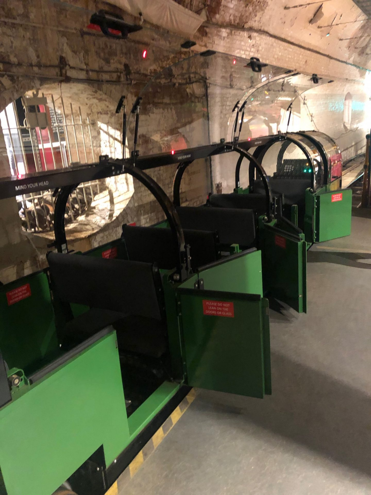 The Mail Rail underground at the Postal Museum on the Clerkenwell site.