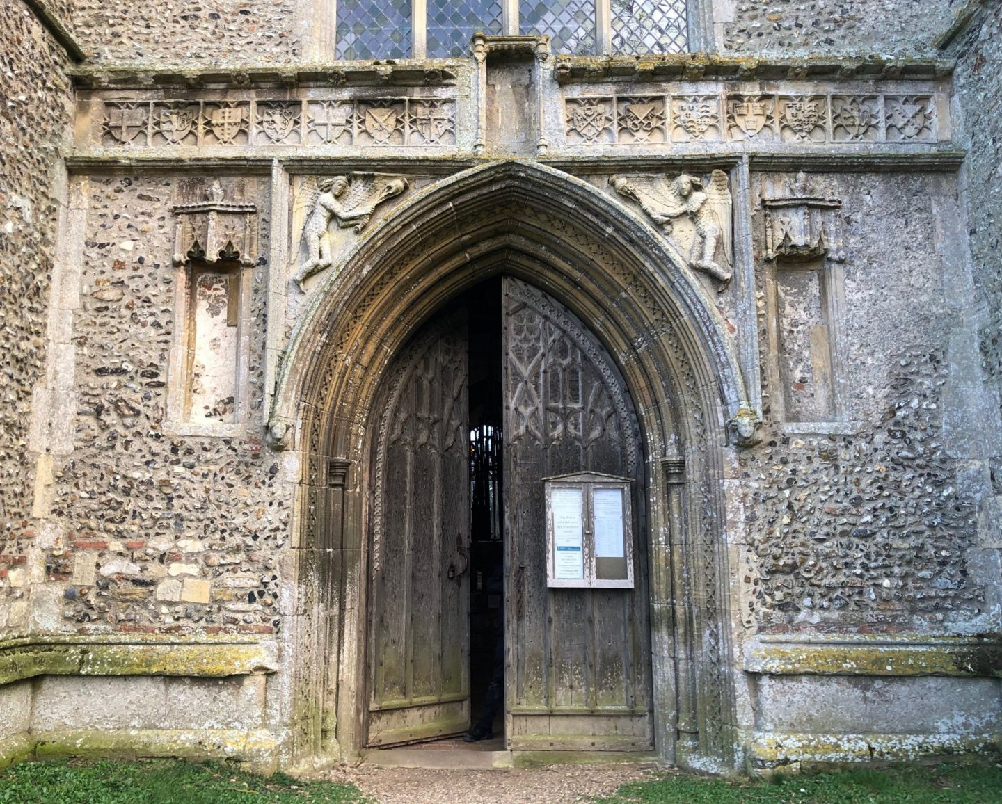 West door and decoration of the west end of Salle church