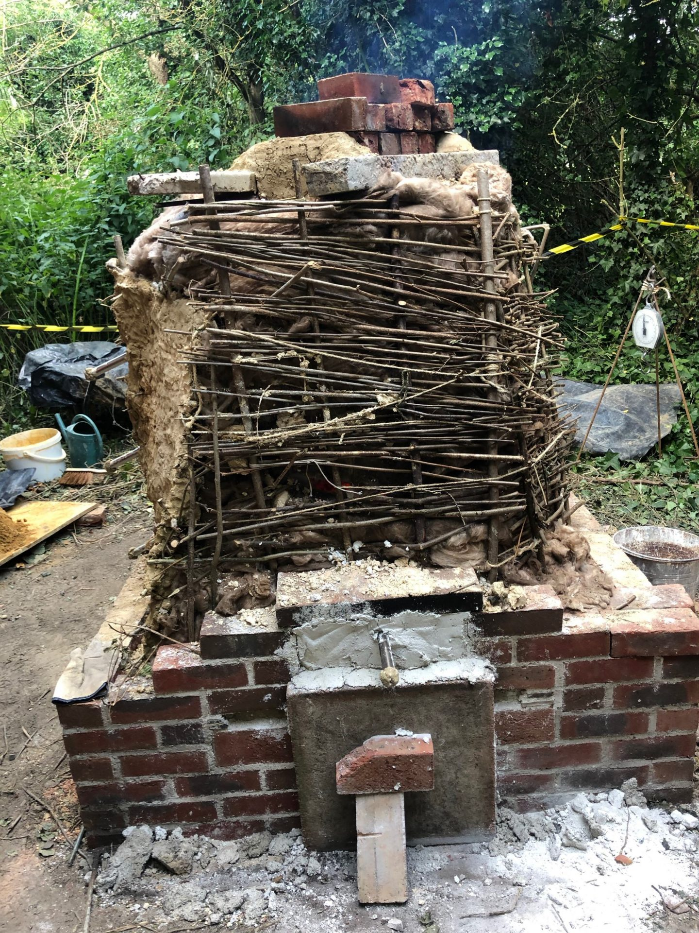 Kiln made on site at 2019 SPAB working party, Boxley Abbey