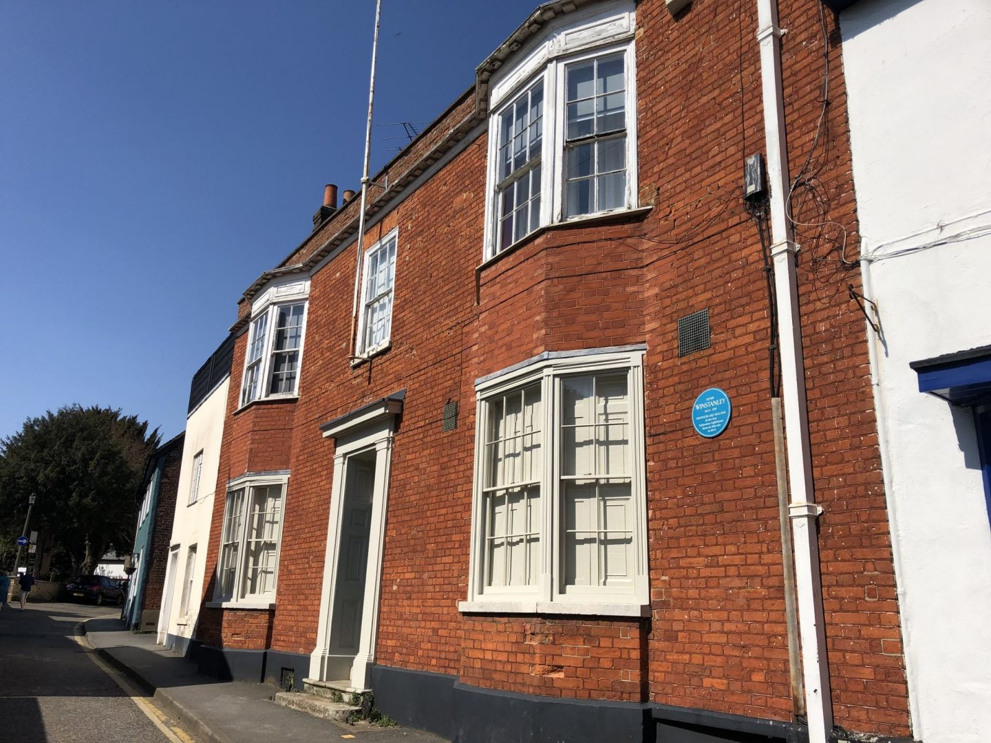 The house in Saffron Walden where Winstanley was born.