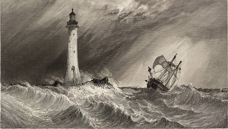 Henry Winstanley was an English engineer that constructed the first Eddystone Lighthouse. He died in 1703, when he was in the lighthouse making some repairs, the Great Storm destroyed the lighthouse and took away his life. Eddystone Lighthouse, engraved by W.B. Cooke 1836 Clarkson Frederick Stanfield 1793-1867 Transferred from the Library 1989 http://www.tate.org.uk/art/work/T05696