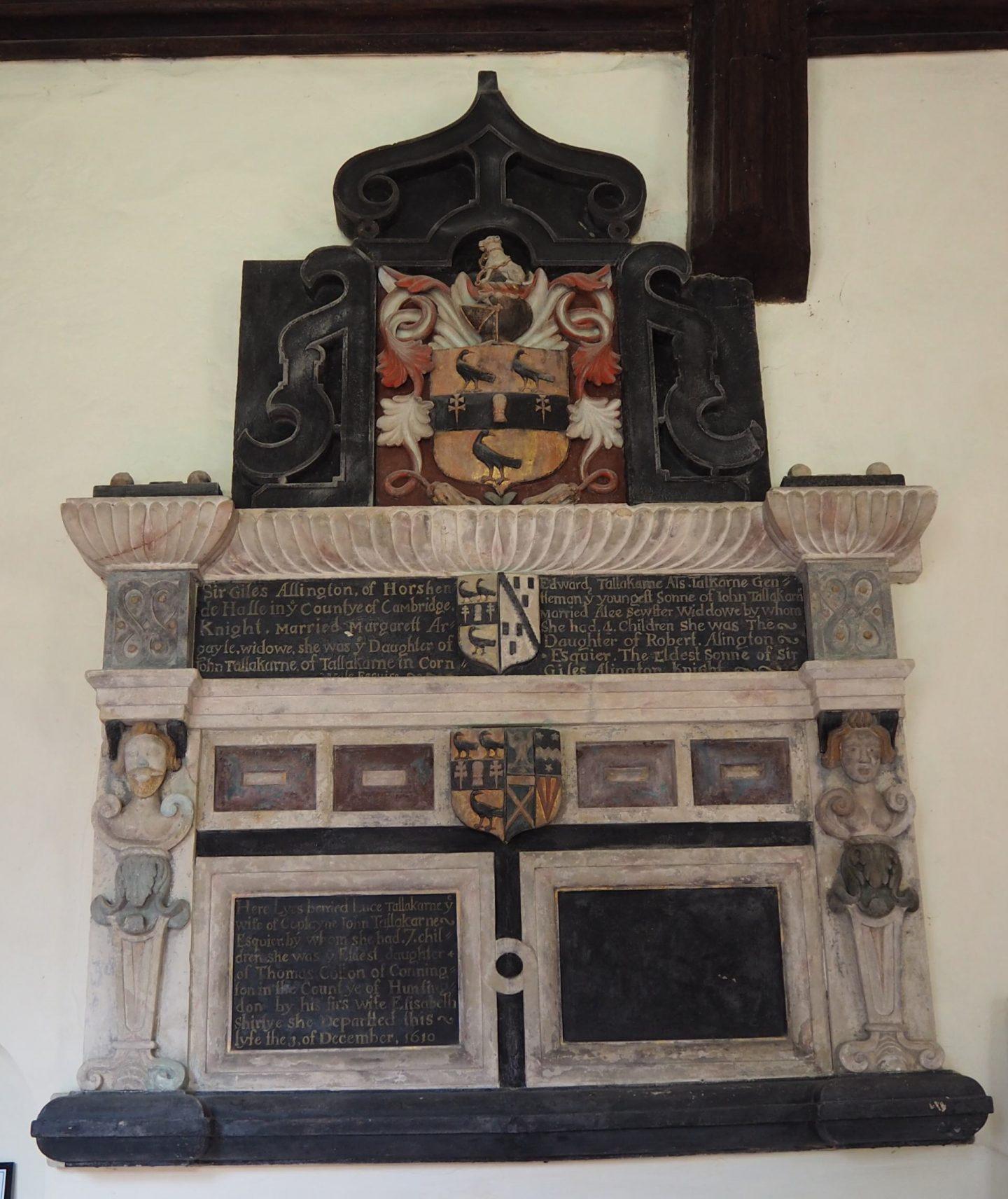 Luce Tallakarne monument in Ashen Church